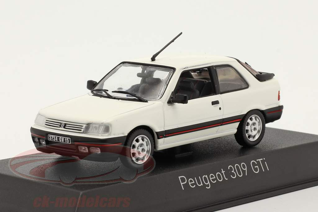 Peugeot 309 GTI Byggeår 1987 meije hvid 1:43 Norev