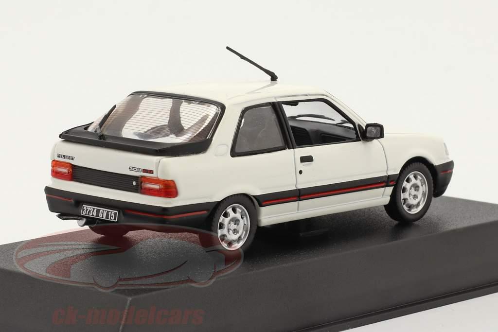 Peugeot 309 GTI Anno di costruzione 1987 meije bianco 1:43 Norev