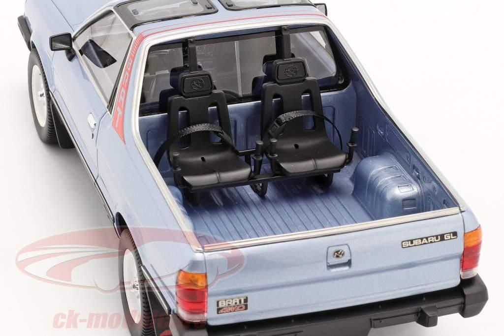 Subaru BRAT Generacion 2 Año de construcción 1986 Azul claro metálico 1:18 DNA Collectibles