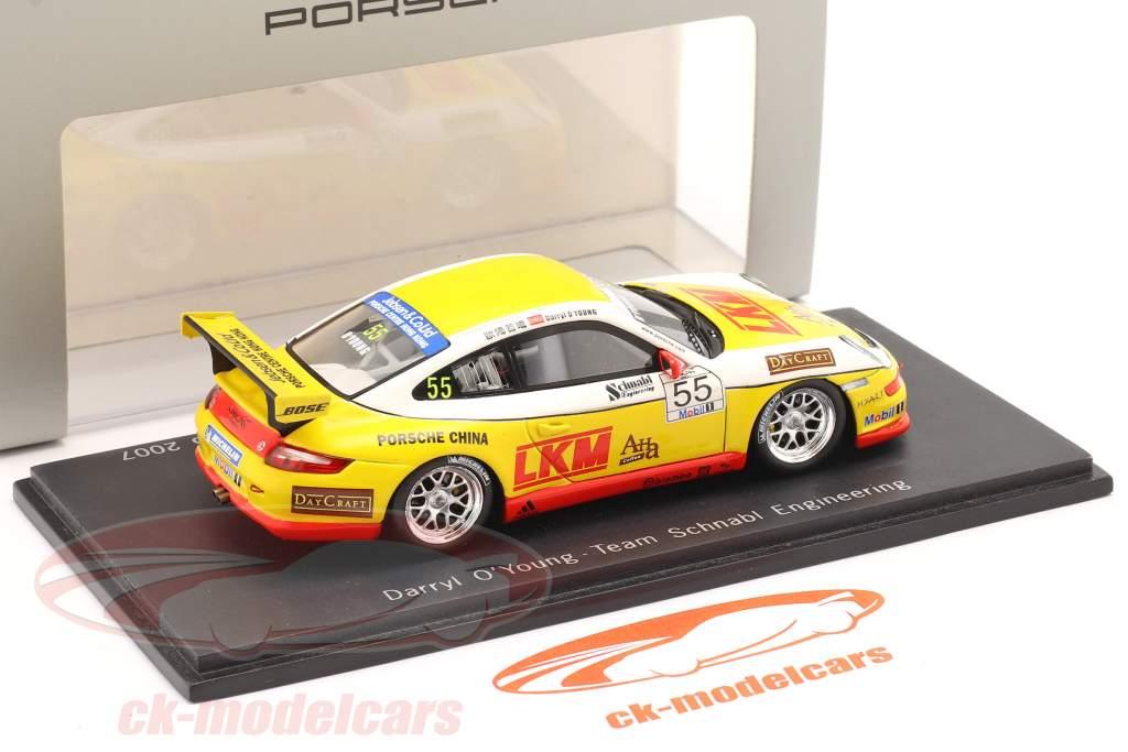 Porsche 911 (997) GT3 Cup #55 Porsche Mobil 1 Supercup 2007 O'Young 1:43 Spark