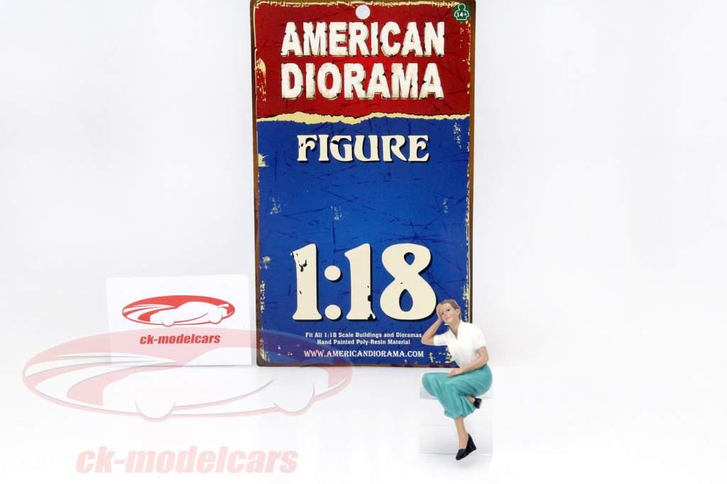 Siddende figur Kristan 1:18 American Diorama