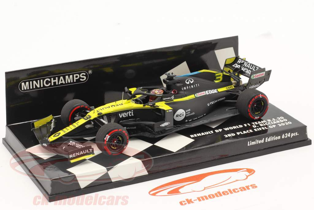 Daniel Ricciardo Renault R.S.20 #3 3e Eifel GP formule 1 2020 1:43 Minichamps