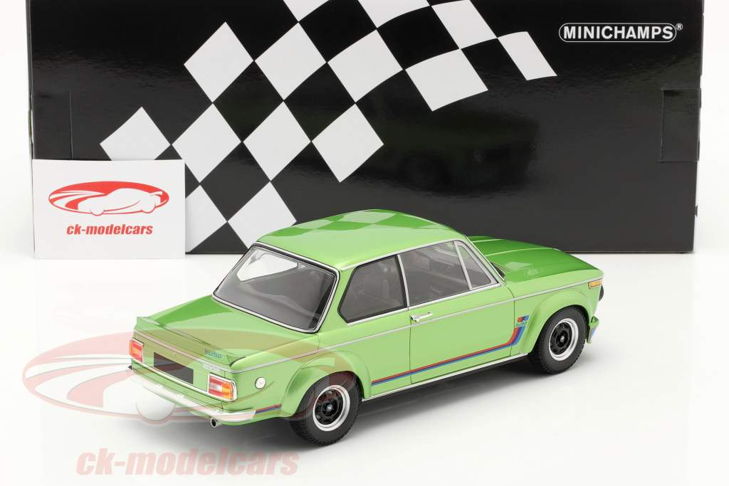 BMW 2002 Turbo Baujahr 1972 grün metallic 1:18 Minichamps