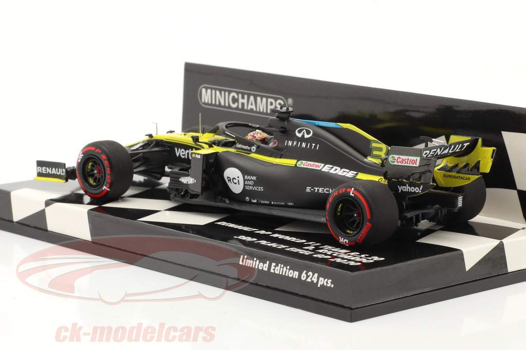 Daniel Ricciardo Renault R.S.20 #3 3° Eifel GP formula 1 2020 1:43 Minichamps