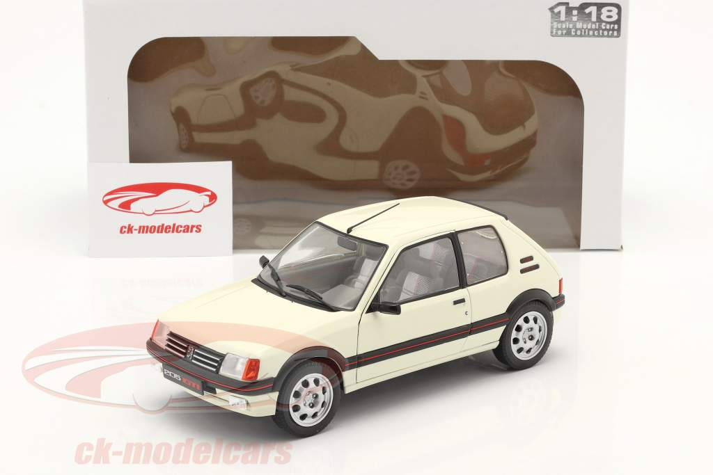 Peugeot 205 GTI 1.9L MK1 Baujahr 1988 weiß 1:18 Solido