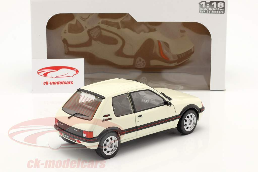Peugeot 205 GTI 1.9L MK1 Anno di costruzione 1988 bianco 1:18 Solido