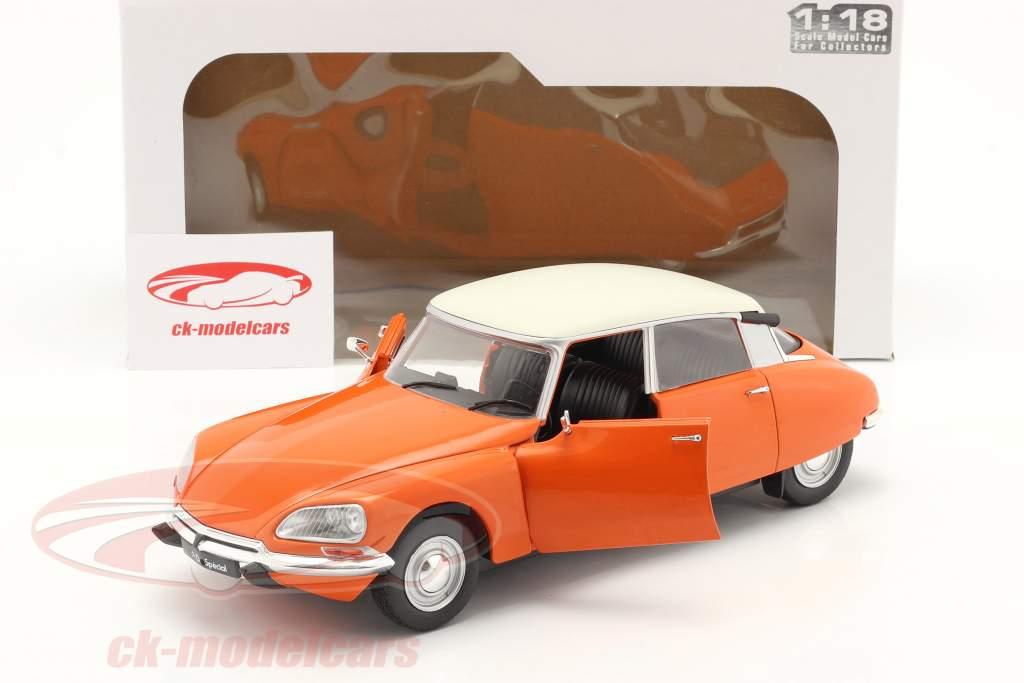 Citroen D Special bouwjaar 1972 Oranje 1:18 Solido