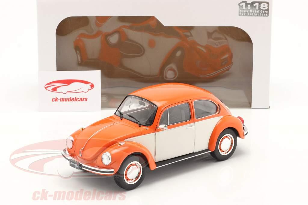 Volkswagen VW Beetle 1303 year 1974 orange / white 1:18 Solido