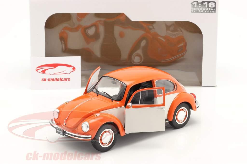 Volkswagen VW Scarafaggio 1303 Anno di costruzione 1974 arancia / bianco 1:18 Solido