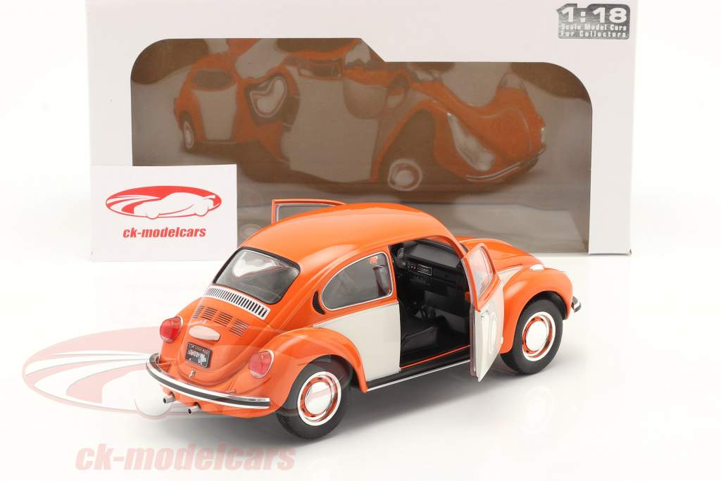 Volkswagen VW Besouro 1303 Ano de construção 1974 laranja / Branco 1:18 Solido