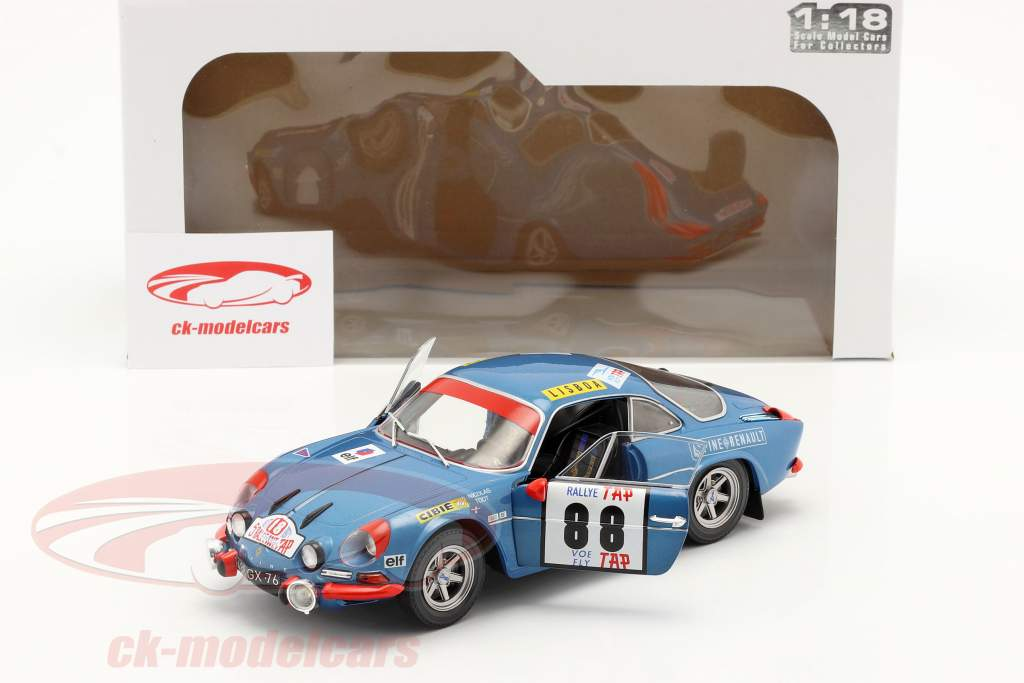 Alpine A110 1600S #88 gagnant Rallye le Portugal 1971 Nicolas, Todt 1:18 Solido