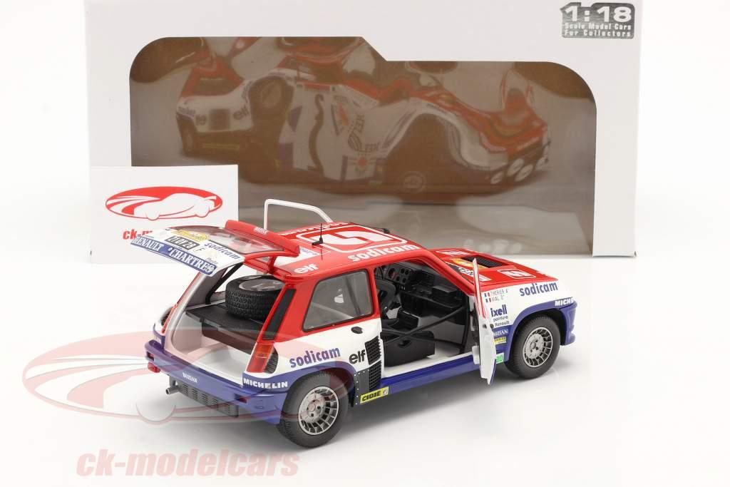 Renault 5 Turbo #2 vinder Rallye D'Antibes 1983 Therier, Vial 1:18 Solido