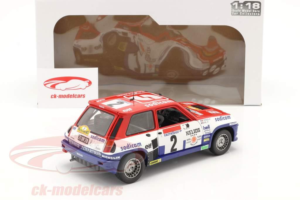 Renault 5 Turbo #2 ganador Rallye D'Antibes 1983 Therier, Vial 1:18 Solido
