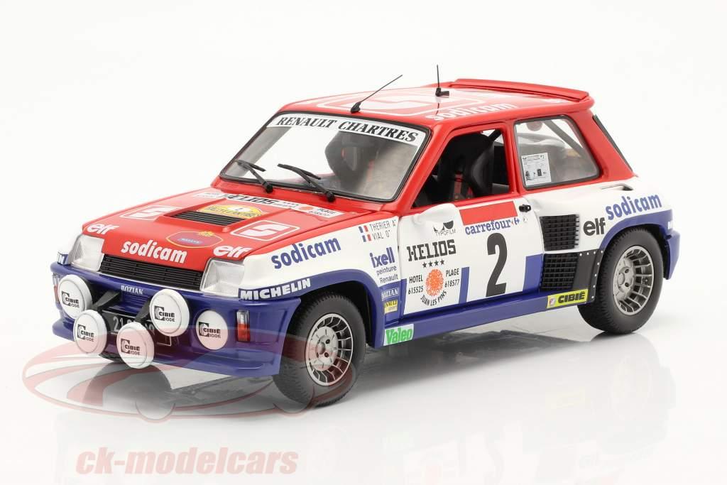 Renault 5 Turbo #2 vencedora Rallye D'Antibes 1983 Therier, Vial 1:18 Solido