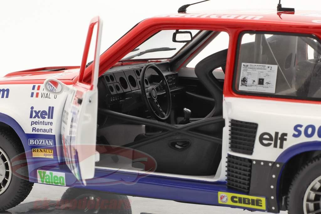Renault 5 Turbo #2 winnaar Rallye D'Antibes 1983 Therier, Vial 1:18 Solido