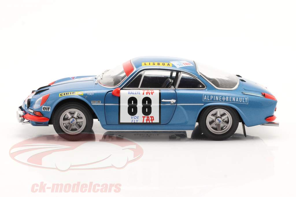 Alpine A110 1600S #88 winner Rallye Portugal 1971 Nicolas, Todt 1:18 Solido