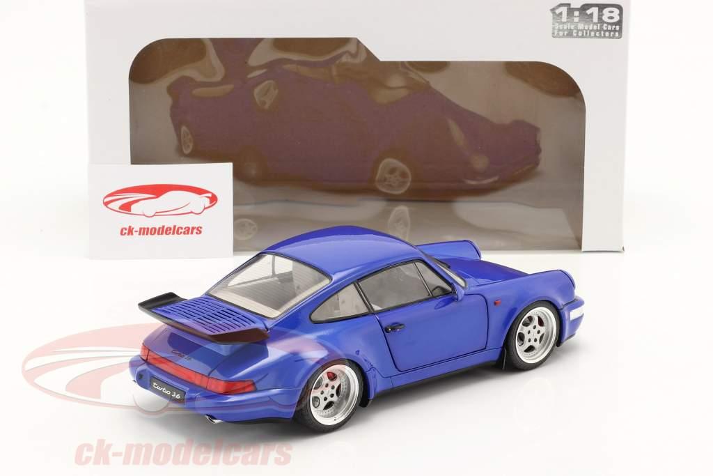 Porsche 911 (964) Turbo Año de construcción 1990 electric azul 1:18 Solido
