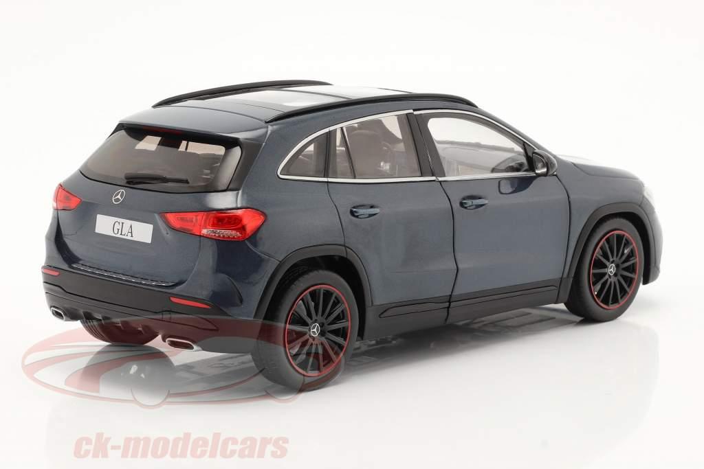 Mercedes-Benz GLA (H247) year 2020 denim blue metallic 1:18 Solido