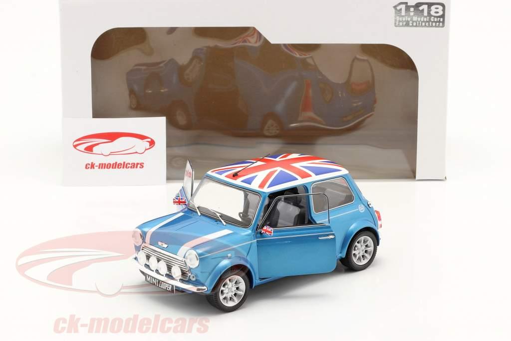 Mini Cooper Sport year 1997 fisherman blue 1:18 Solido