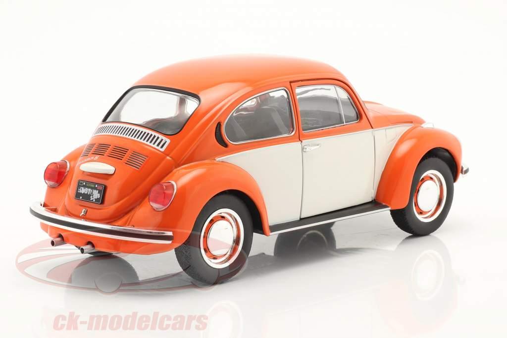 Volkswagen VW Escarabajo 1303 Año de construcción 1974 naranja / blanco 1:18 Solido