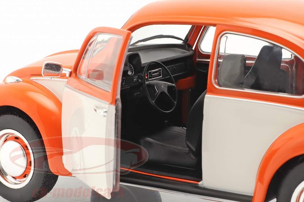 Volkswagen VW Käfer 1303 Baujahr 1974 orange / weiß 1:18 Solido