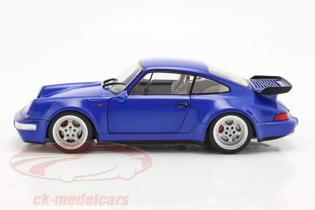 Porsche 911 (964) Turbo Ano de construção 1990 electric azul 1:18 Solido