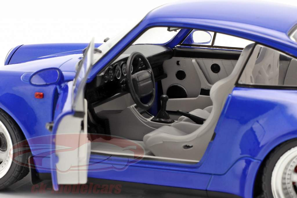 Porsche 911 (964) Turbo Baujahr 1990 electric blau 1:18 Solido