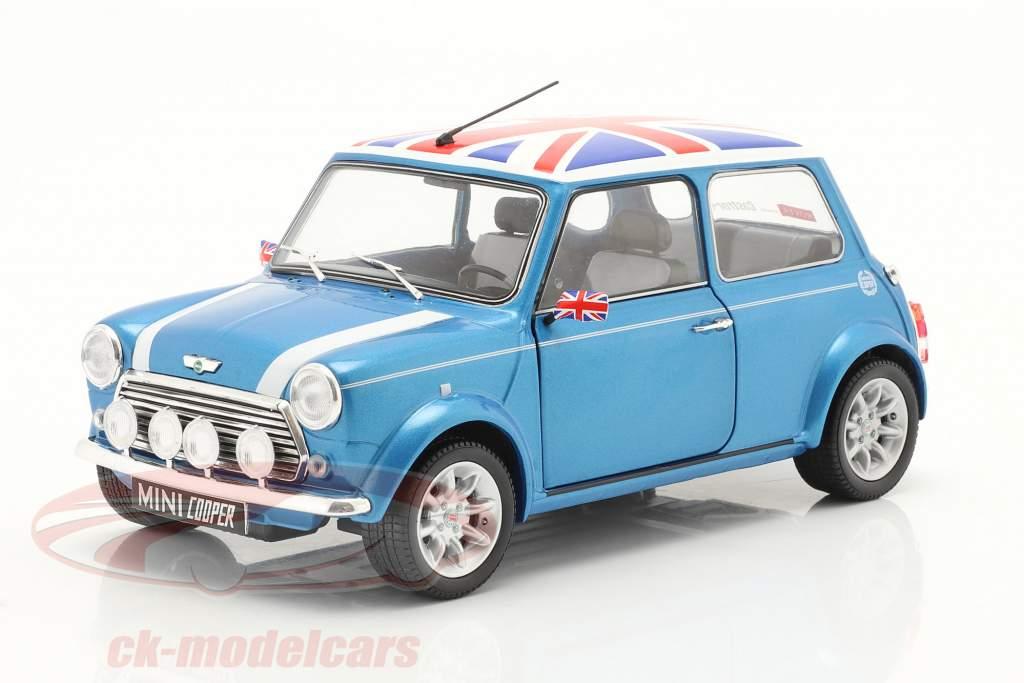 Mini Cooper Sport Année de construction 1997 pêcheur bleu 1:18 Solido