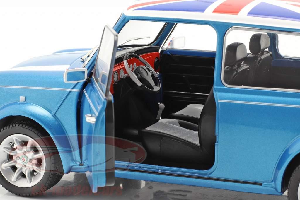 Mini Cooper Sport Byggeår 1997 fisker blå 1:18 Solido