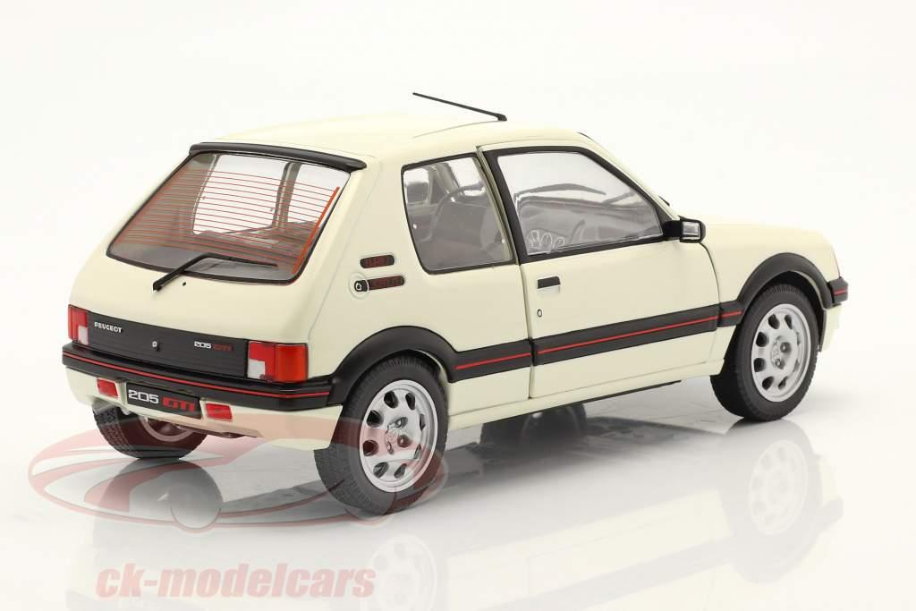 Peugeot 205 GTI 1.9L MK1 year 1988 white 1:18 Solido