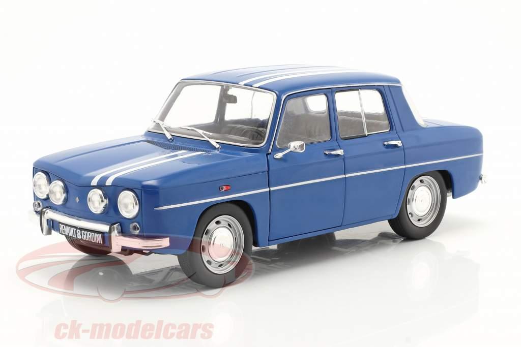 Renault 8 Gordini 1300 bouwjaar 1967 blauw 1:18 Solido