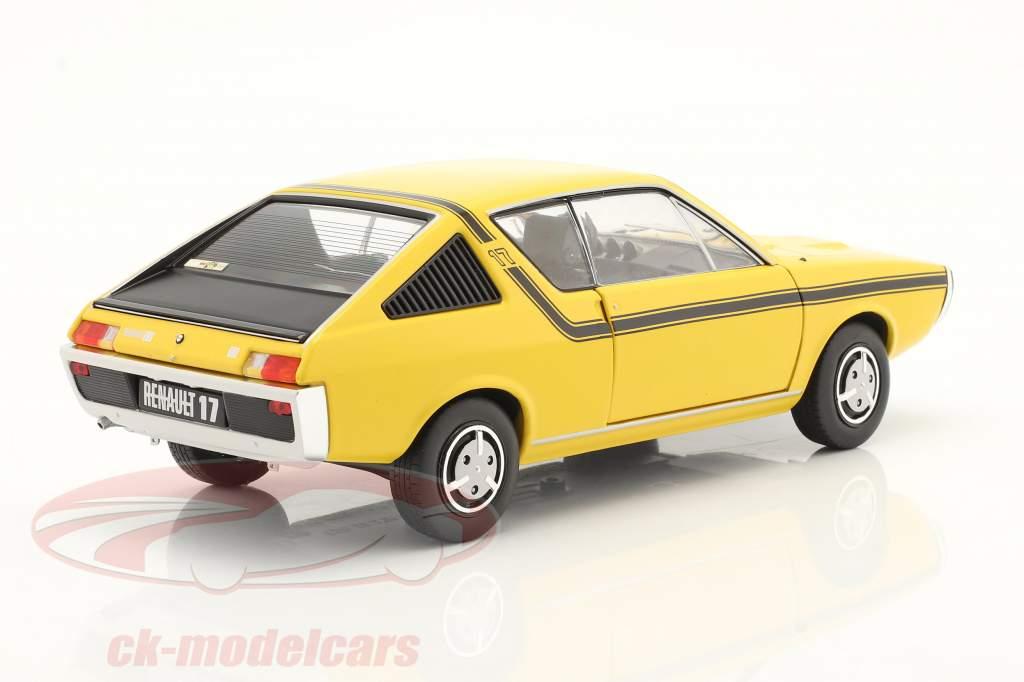 Renault 17 (R17) MK1 year 1976 yellow 1:18 Solido