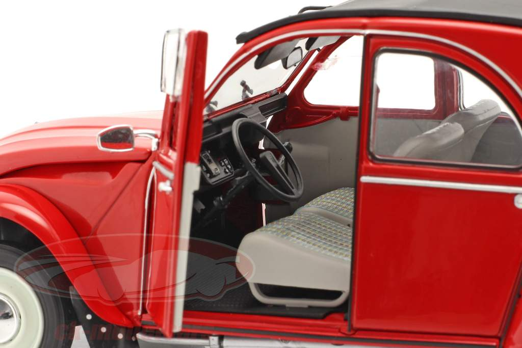 Citroen 2CV6 year 1982 red 1:18 Solido