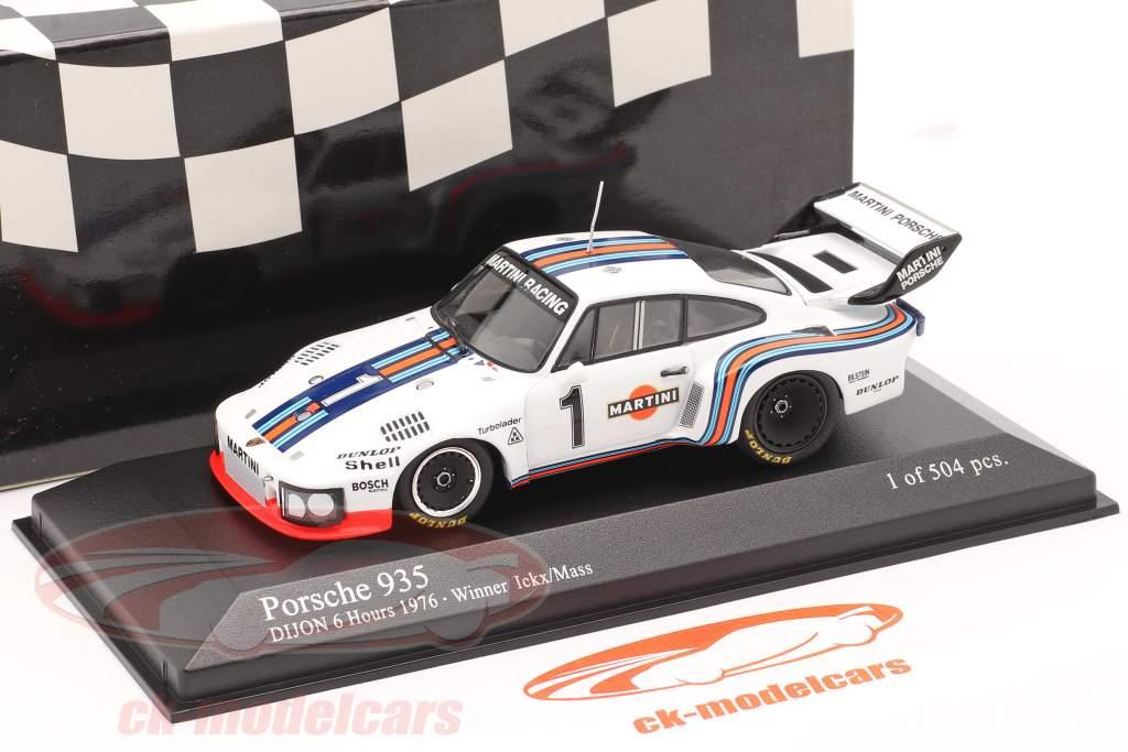 Porsche 935 #1 winnaar 6h Dijon 1976 Ickx / Mass 1:43 Minichamps