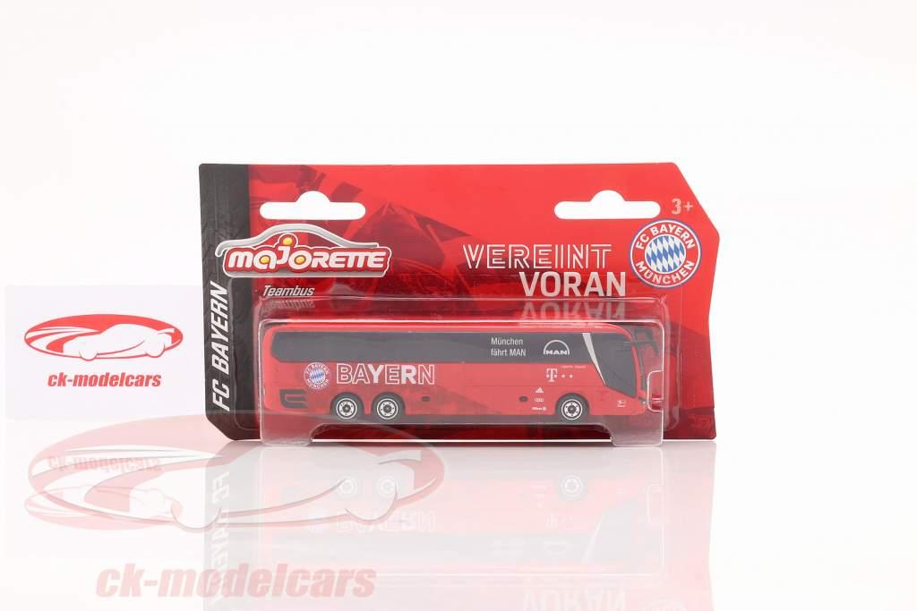 MAN Lion's Coach L Supreme Autobús del equipo FC Baviera Munich rojo 1:64 Majorette