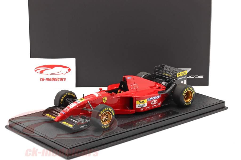 Gerhard Berger Ferrari 412T2 #28 formule 1 1995 avec Vitrine 1:18 GP Replicas