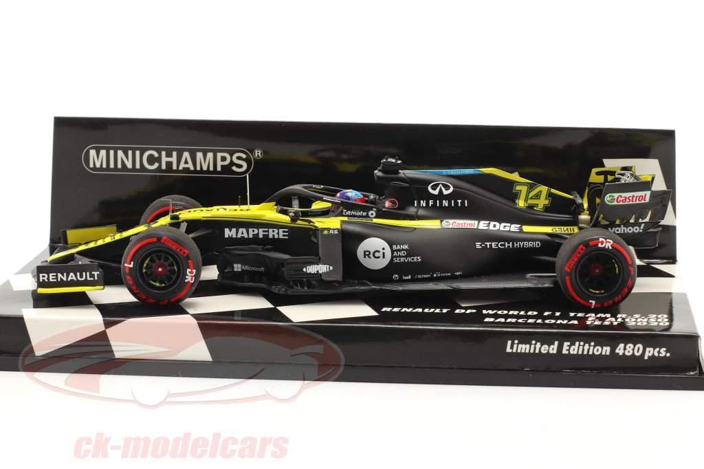 Fernando Alonso Renault R.S.20 #14 Barcelona test formula 1 2020 1:43 Minichamps