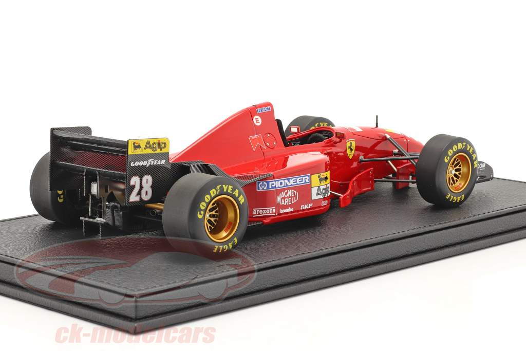 Gerhard Berger Ferrari 412T2 #28 fórmula 1 1995 con Escaparate 1:18 GP Replicas