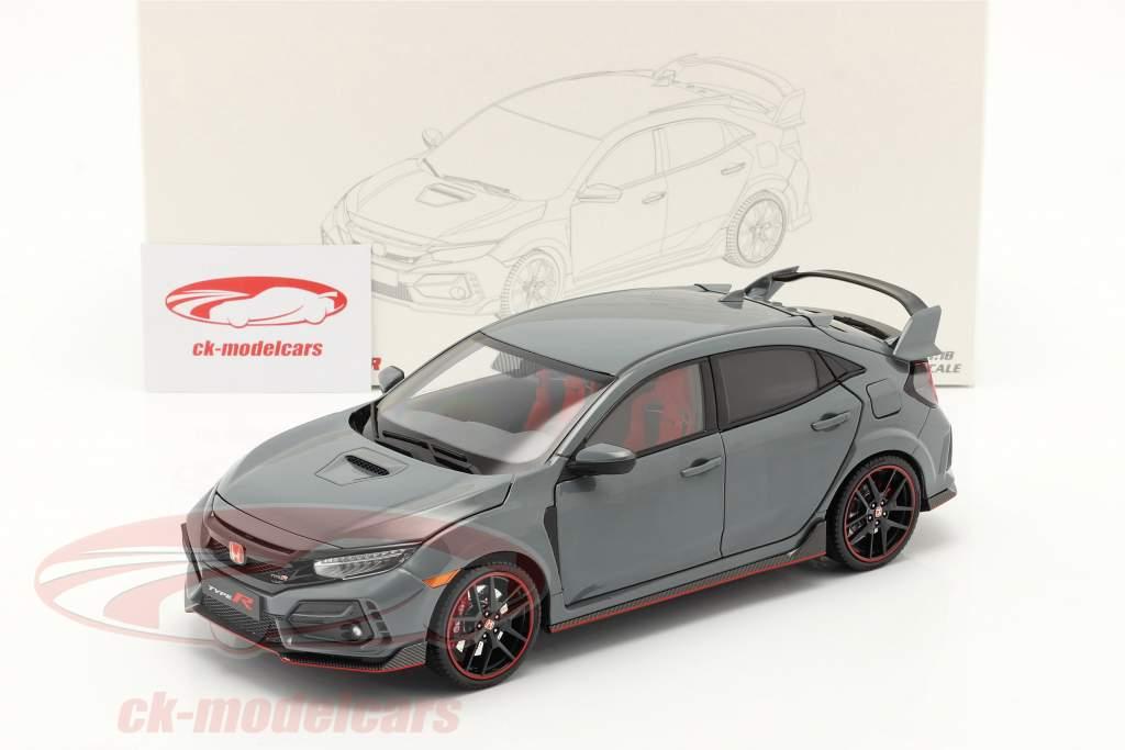 Honda Civic Type-R Anno di costruzione 2020 grigio 1:18 LCD Models