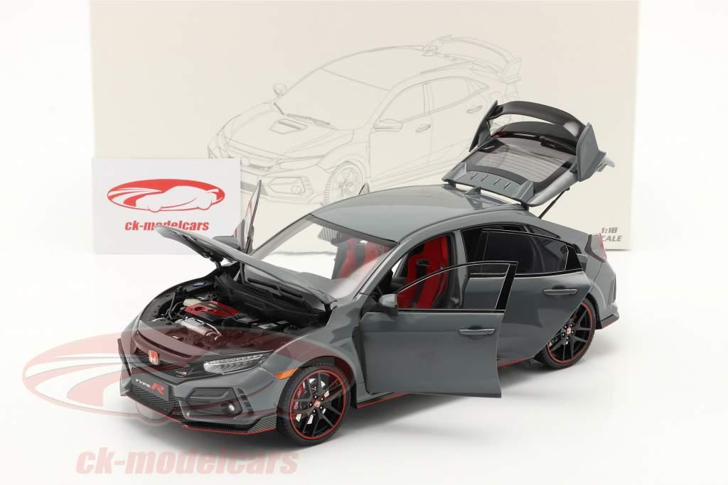 Honda Civic Type-R Ano de construção 2020 cinzento 1:18 LCD Models
