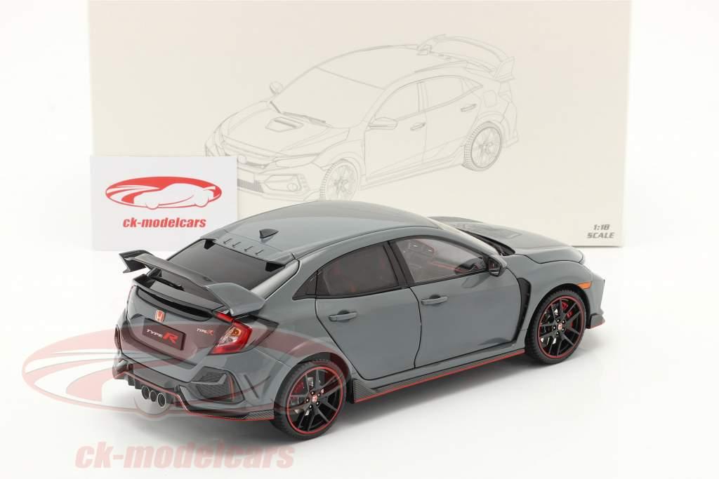 Honda Civic Type-R bouwjaar 2020 grijs 1:18 LCD Models