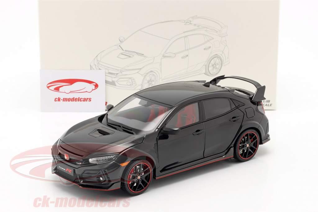 Honda Civic Type-R Anno di costruzione 2020 Nero 1:18 LCD Models