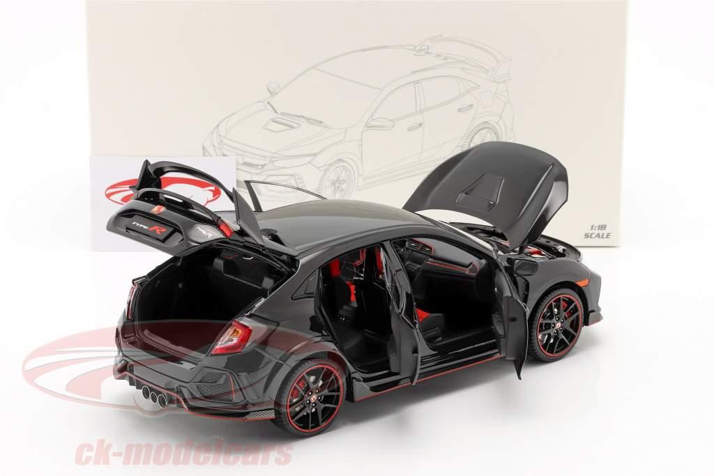 Honda Civic Type-R year 2020 black 1:18 LCD Models