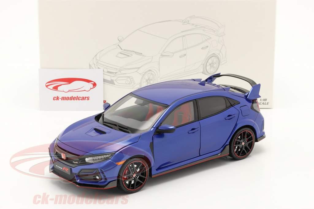 Honda Civic Type-R Anno di costruzione 2020 blu 1:18 LCD Models