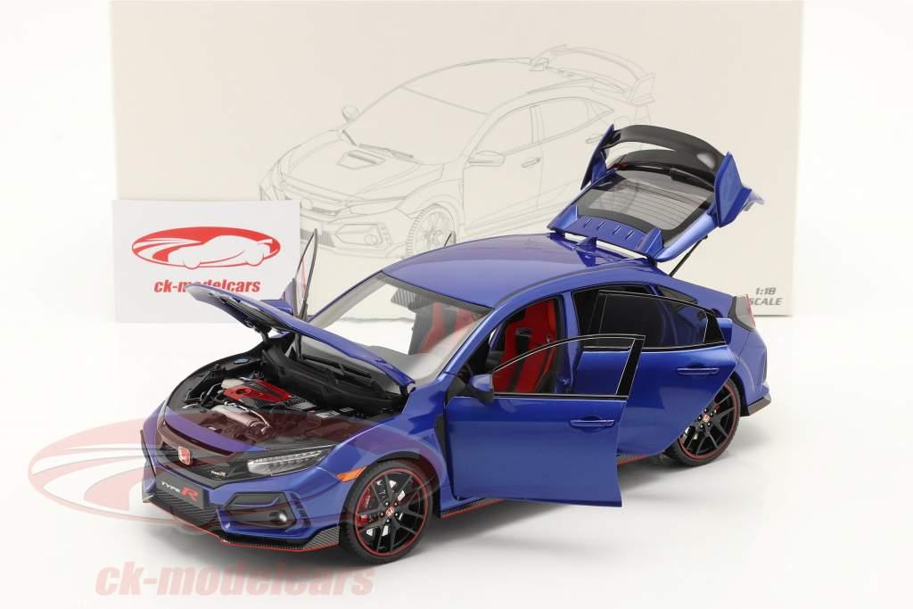 Honda Civic Type-R bouwjaar 2020 blauw 1:18 LCD Models