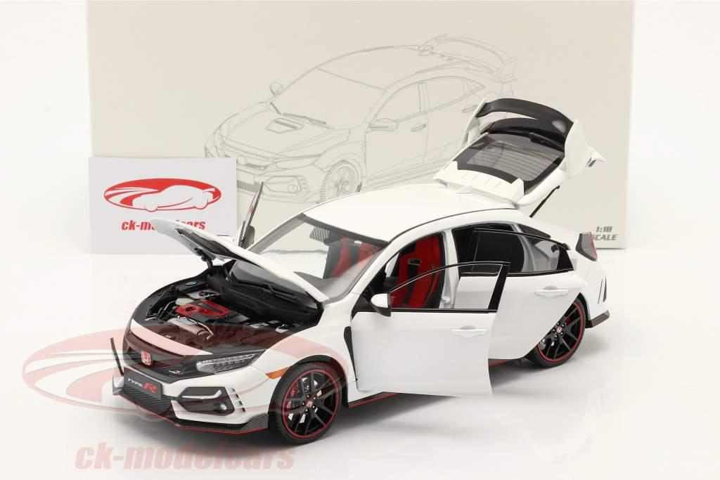 Honda Civic Type-R Byggeår 2020 hvid 1:18 LCD Models