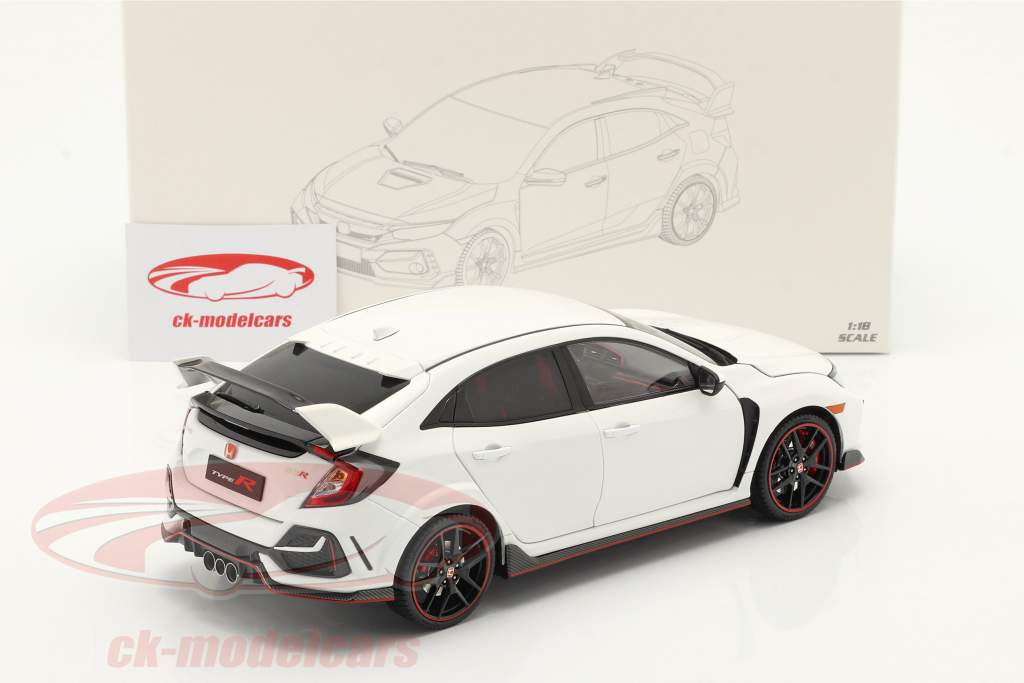 Honda Civic Type-R Anno di costruzione 2020 bianco 1:18 LCD Models
