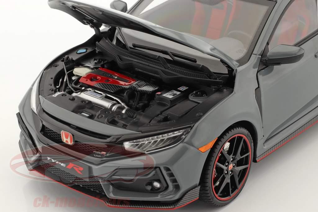 Honda Civic Type-R year 2020 grey 1:18 LCD Models