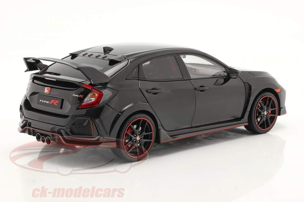 Honda Civic Type-R Ano de construção 2020 Preto 1:18 LCD Models