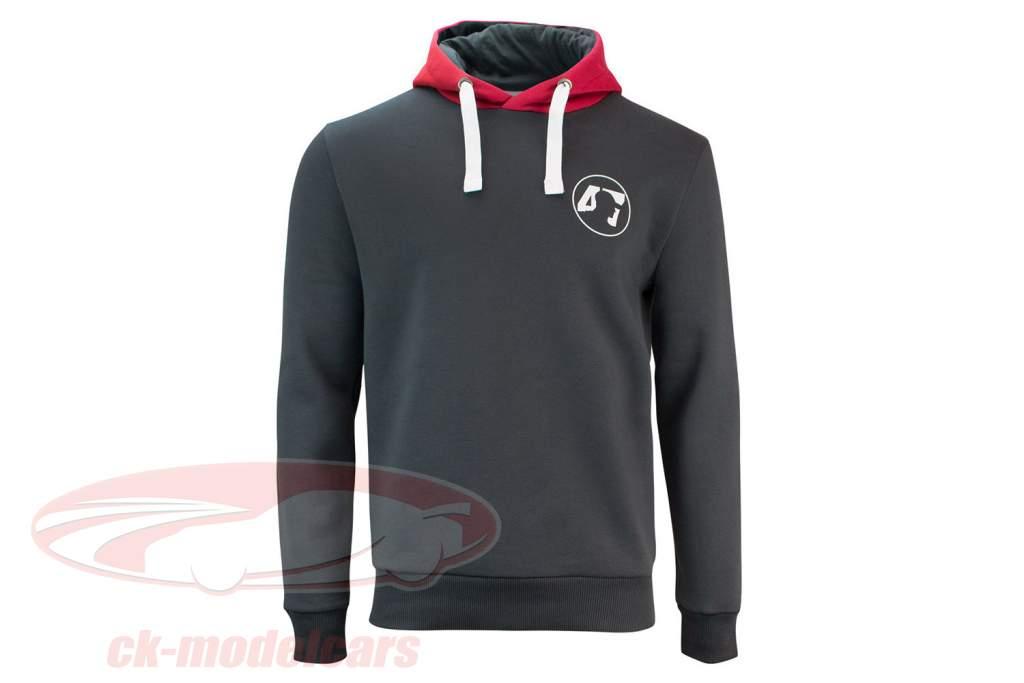 Mick Schumacher Pullover con cappuccio Series 2 antracite / rosso